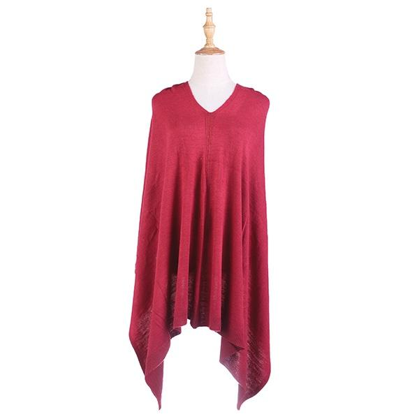Ameise Poncho Burgandy Red - Global Free Style