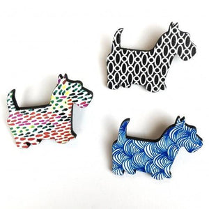 Urban Dog Wooden Brooch - Global Free Style