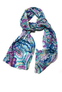 Cinnamon Creations Big Floral Scarf Purple - Global Free Style