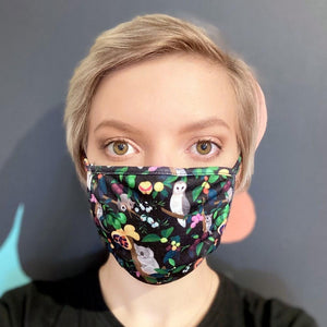 Monster Threads Face Mask Kids Bush Parrots - Global Free Style