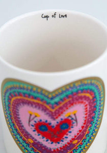 Natural Life Embossed Mug XOXO - Global Free Style