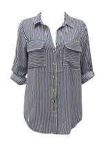 Sunny Girl Trixy Striped Button up Shirt - Global Free Style