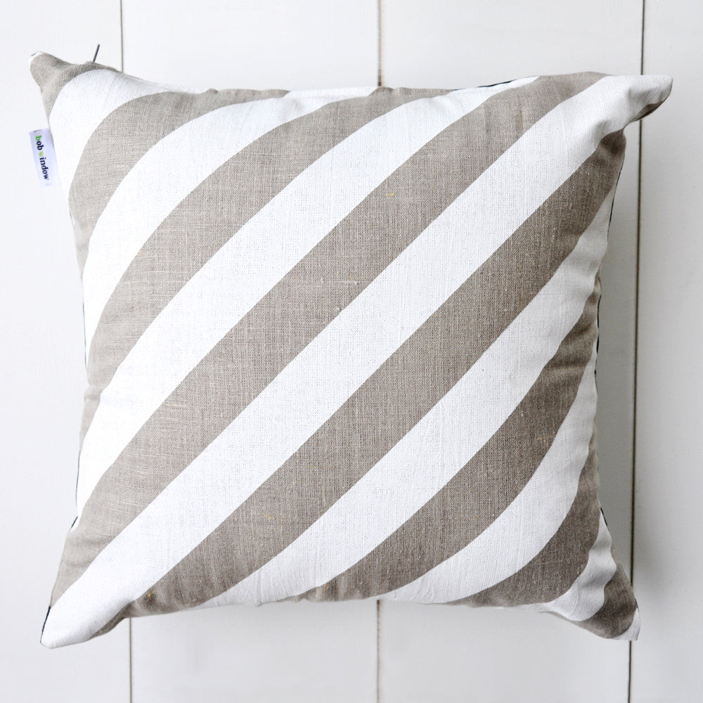 Stripe Cushion - Black/White