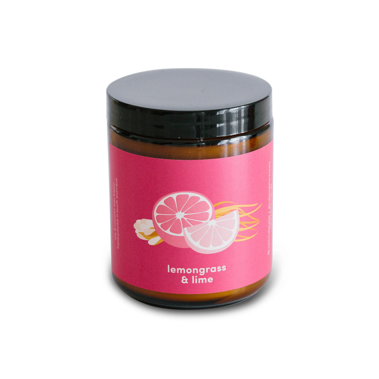 Ruby Red Star Lemongrass & Lime Soy Wax Candle