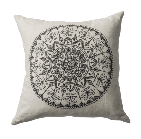 Mandala Linen Cushion