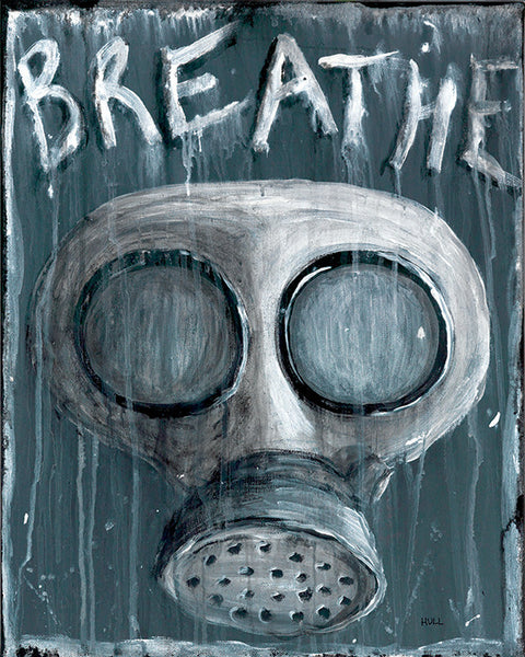 Breathe -Gas Mask Art