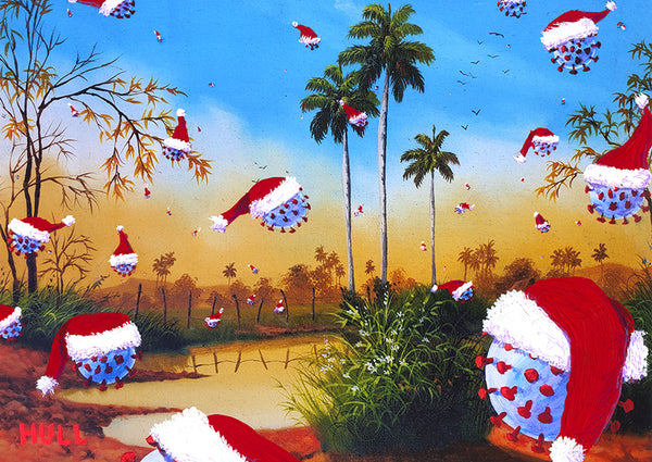 Oh the Weather Outside is Frightful - Coronaland Christmas art cards