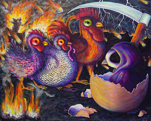 Eggpocalypse - Chickens of the Apocalypse Farm Art