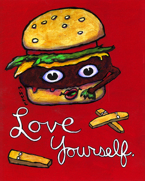 Love Yourself Cheeseburger Art