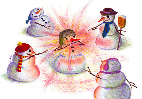 Xmas Art - Rudolph, the Red-nosed Snowman