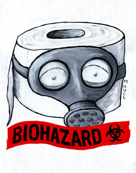 Toilet Paper Biohazard Art - Something Stinks Around Here