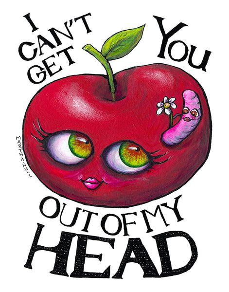 I Can't Get You out of my Head - Apple and Worm in Love Art