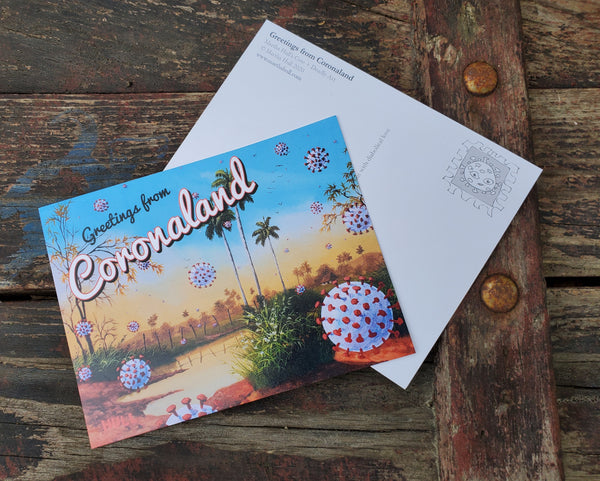 Greetings from Coronaland - Pandemic Post Card Art