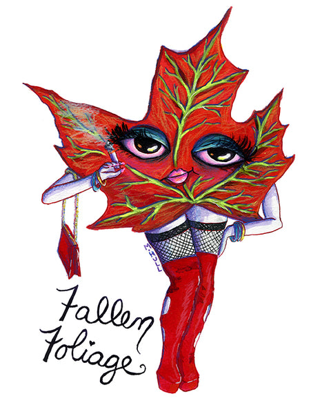 Fallen Foliage Sexy Maple Leaf Vermont Art