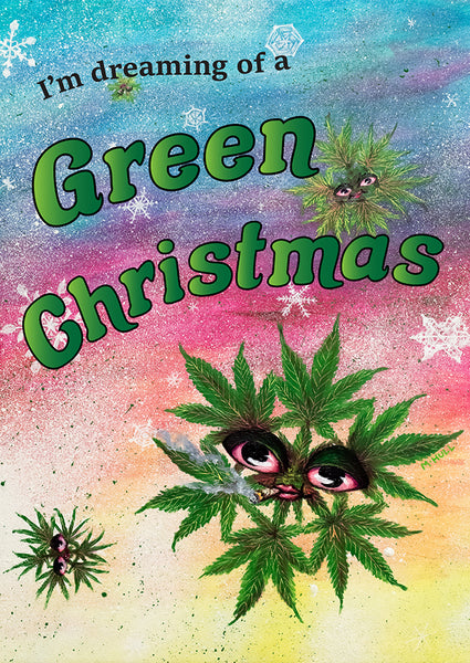 I'm Dreaming of a Green Christmas - 420 snowflake art cards