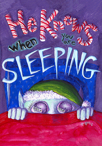 Xmas Elf Scary Art - He Knows When You Are Sleeping