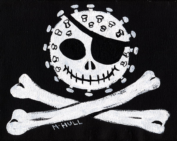 Jolly Corona - Pandemic Pirate Flag Art