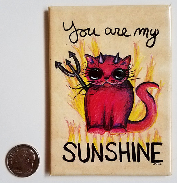 Devil Cat Art - You Are My Sunshine