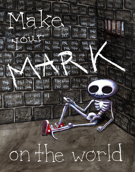 Make Your Mark on the World - Skeleton in Sneakers Art