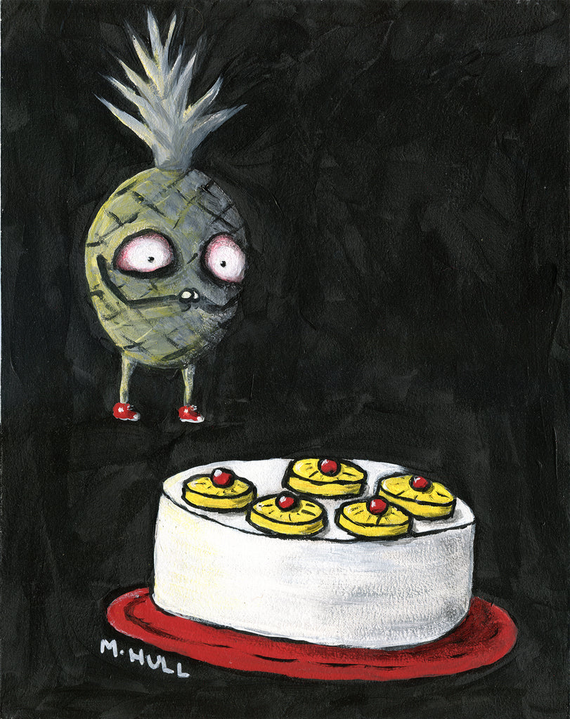Pineapple Upside Down Cake Art