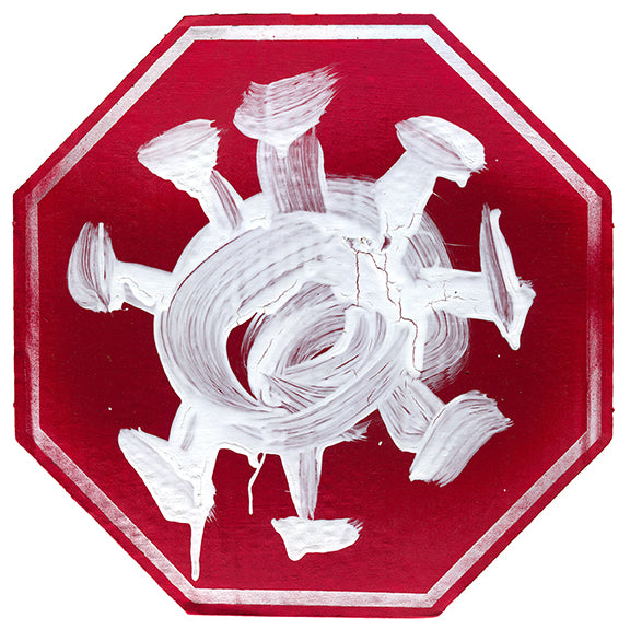 Stop the Insanity - Post-apocalyptic Coronavirus Stop Sign Art
