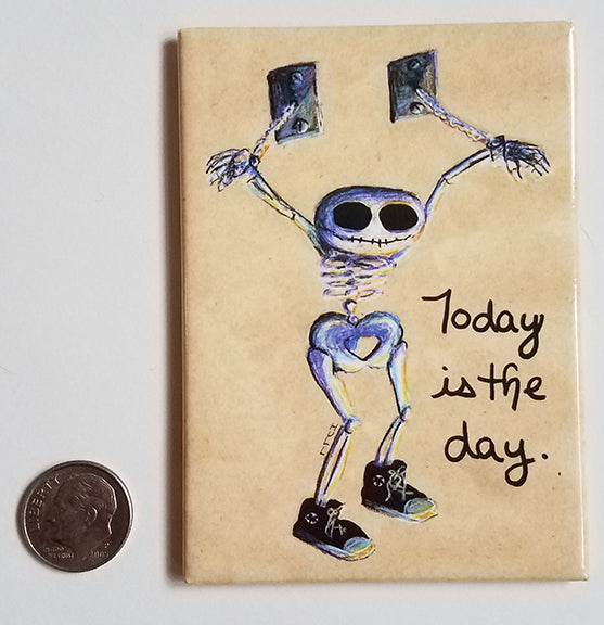 Today is the Day - Chained Skeleton Art