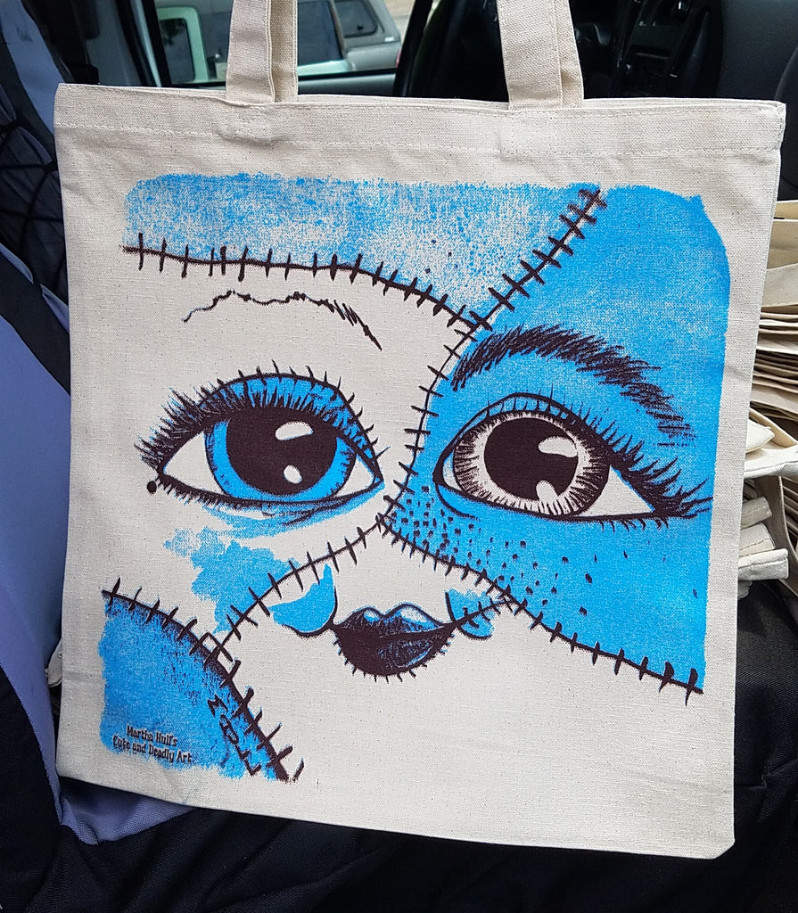 Frankenstein Lady Tote Bag