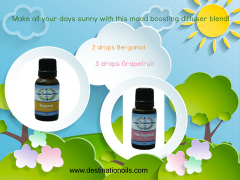 Essential Oil Diffuser recipe- happy- bergamot- grapefruit