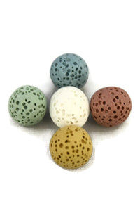 10mm Replacement Lava Stones for Diffuser Bracelets- Set of 5-Diffuser Bracelet-Destination Oils