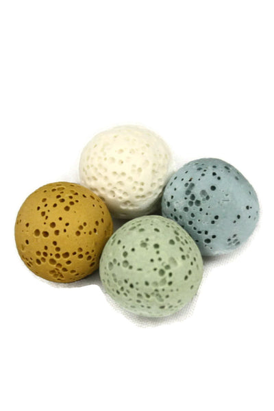 14mm Replacement Lava Stones for Diffuser Necklaces- Set of 4-Diffuser Necklace-Destination Oils