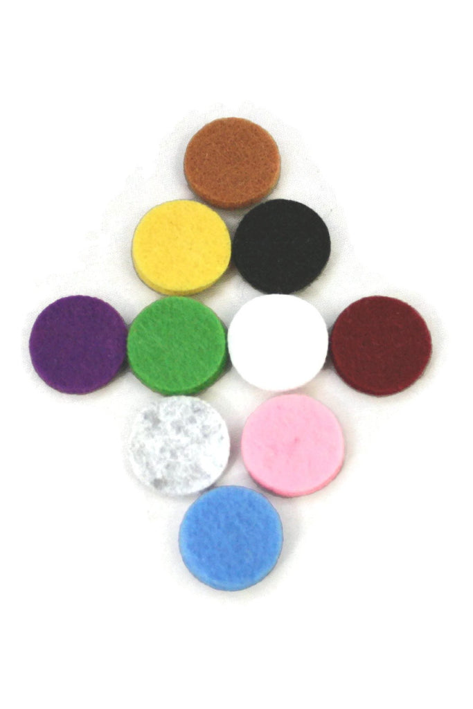 Diffuser Necklace - 17.5mm Replacement Pads For 25mm Diffuser Pendants- Set Of 10