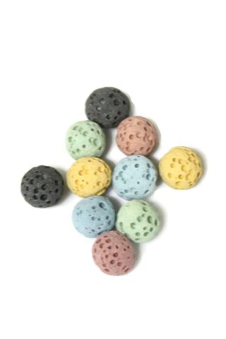 6mm Replacement Lava Stones for Diffuser Necklaces- Set of 10-Diffuser Necklace-Destination Oils