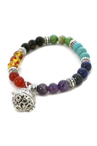 Full Circle 7 Chakra Essential Oil Diffuser Bracelet- Multicolored-Diffuser Bracelet-Destination Oils