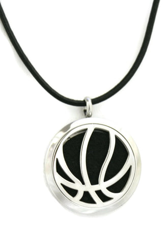 Basketball Stainless Steel Essential Oil Diffuser Necklace- 30mm-Diffuser Necklace-Destination Oils