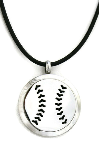 Destination Oils Baseball Diffuser Necklace