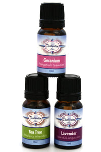 Glow Skin Care Essential Oil Gift Set- Tea Tree, Lavender, Geranium - Gift Sets - Destination Oils