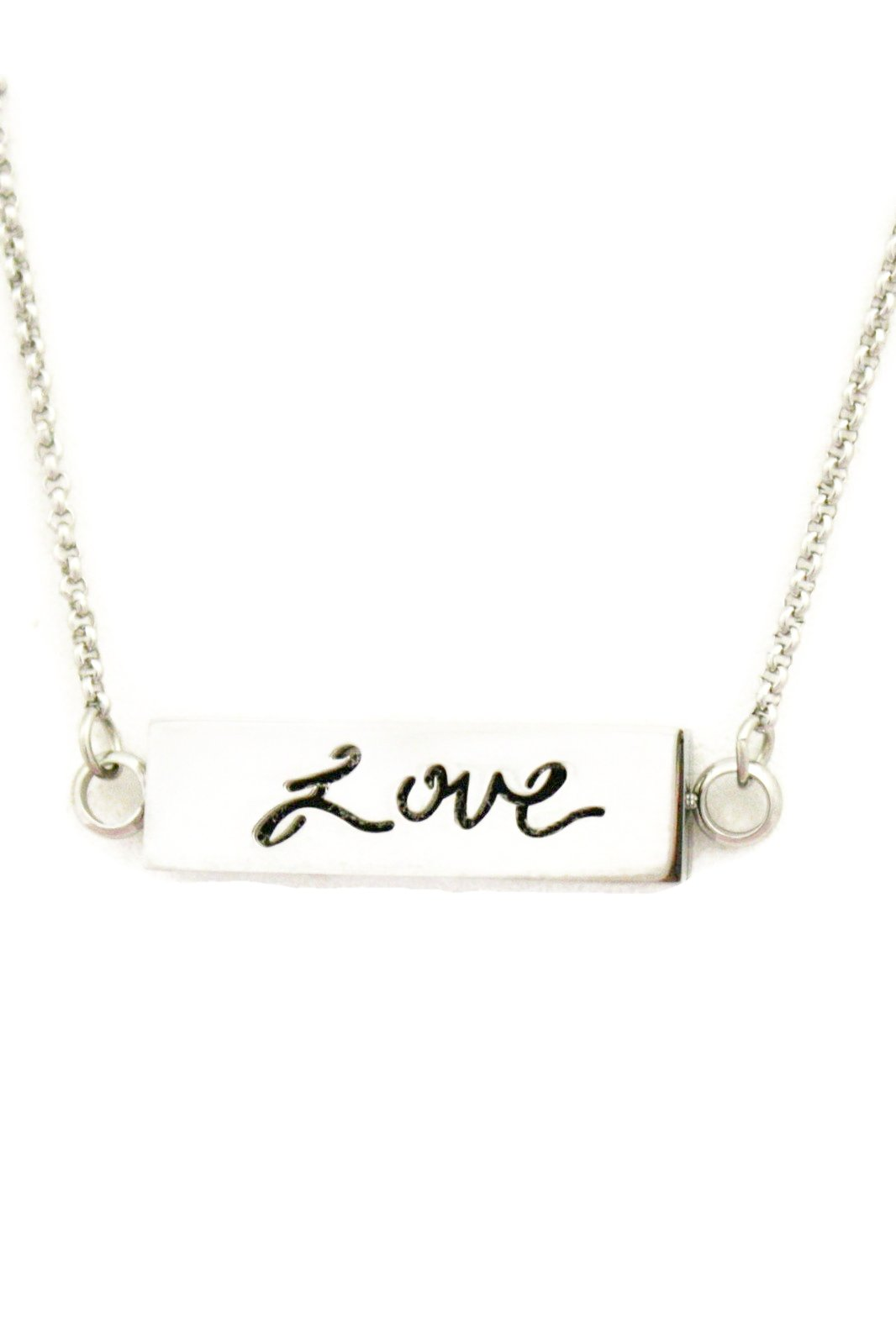 "Love Essential Oil Diffuser Stainless Steel Bar Necklace- 22-24""-Diffuser Necklace-Destination Oils"
