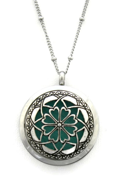 """Unique"" 316L Stainless Steel Essential Oil Diffuser Necklace- 20"""