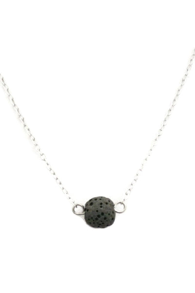 Soul Single lava stone diffuser necklace for essential oils- destination oils- unwaxed bead