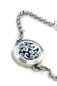 Swirl Filigree 316L Stainless Steel Essential Oil Diffuser Bracelet- 25mm-Diffuser Bracelet-Destination Oils