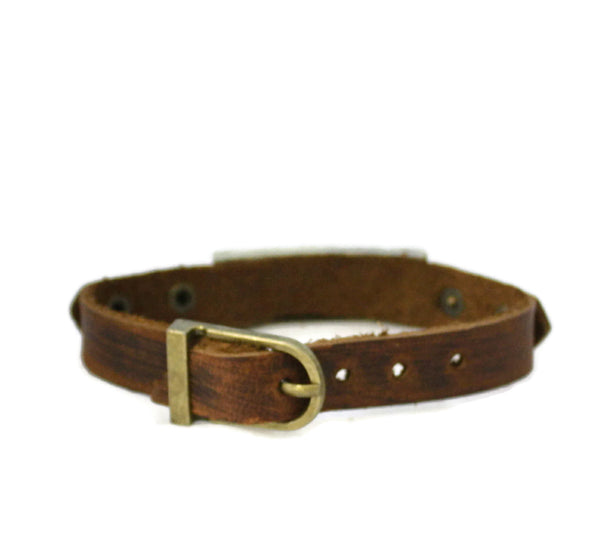 Studded Cross Leather Essential Oil Bracelet- Unisex Men/Women-Diffuser Bracelet-Destination Oils
