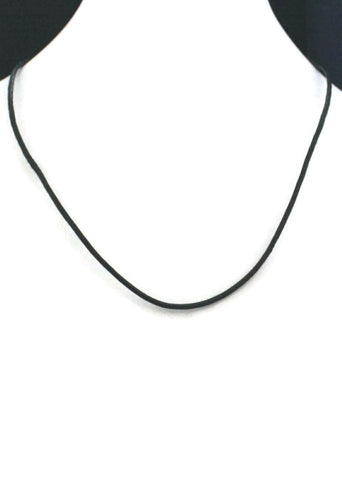 "20"" Black Cowhide Leather Necklace Chain-Replacement Chains-Destination Oils"