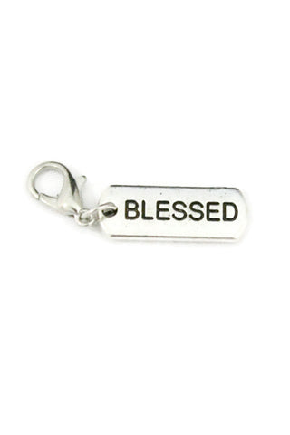 """Blessed"" Silver Jewelry Charm-Jewelry Charm-Destination Oils"