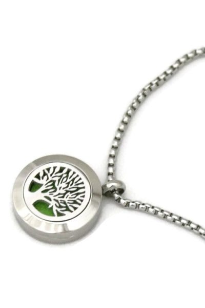 Blooming Tree of Life Diffuser Bracelet- Stainless Steel- 20mm-Diffuser Bracelet-Destination Oils
