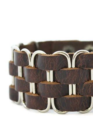 """Bold"" Leather Cuff Essential Oil Bracelet- Unisex-Diffuser Bracelet-Destination Oils"