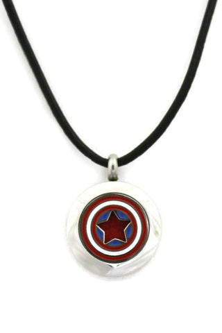 Captain America Small 316L Stainless Steel Essential Oil Diffuser Necklace- 20mm-Diffuser Necklace-Destination Oils