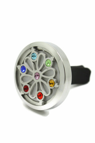 Crystal Flower Essential Oil Car Vent Diffuser Clip-On- 30mm-Car Diffuser-Destination Oils
