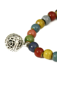 Vivid Ceramic Bead Essential Oil Diffuser Bracelet- Stretchable-Diffuser Bracelet-Destination Oils