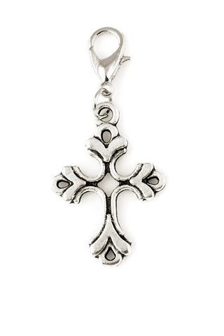 Cross Silver Jewelry Charm-Jewelry Charm-Destination Oils