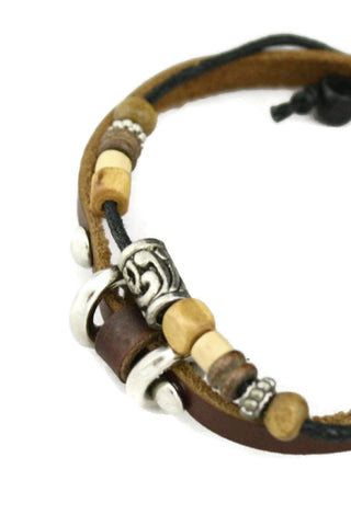 "Diffuser Bracelet - ""Versatile"" Brown Leather Essential Oil Diffuser Bracelet"